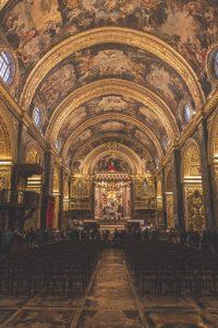 Interior St John co-Cathedral Malta
