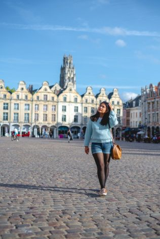 Erica on Heroes Square in Arras
