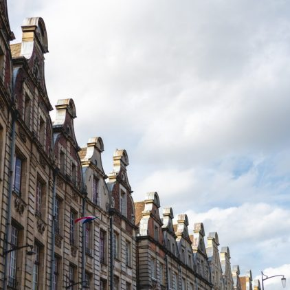Houses at grand place in Arras