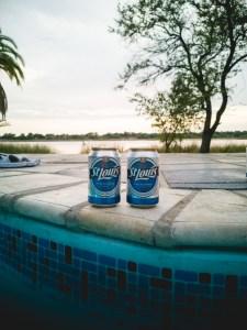 Drinkin St Louis beer in Maun Botswana