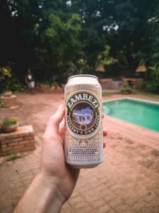 Zambezi beer in the Greenfire lodge in Victoria Falls