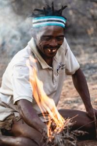 bushman in Botswana