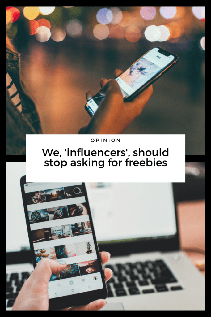 influencers should stop asking for freebies