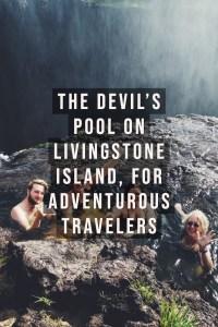 The devil's pool on Livingstone Island