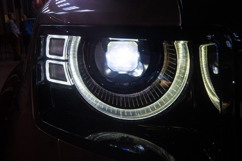 headlight of new Land Rover Defender