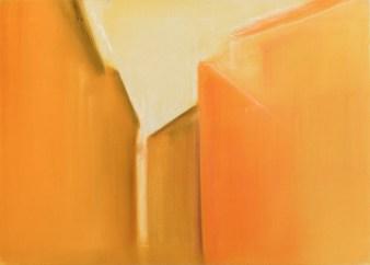 Orange alley 2015, mixed media on canvas, 85x120cm