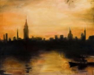 New York City 1956, mixed media on canvas, 88x113cm 2017