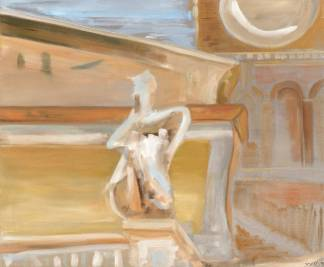 St Maria 1995, mixed media on canvas, Trastevere 95x114