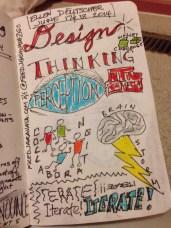 Design Thinking from Stanford's d.School led by Ellen Deutscher at our school