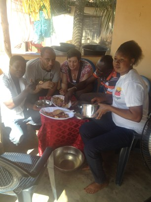 family dinner, wagash (Fulani cheese)