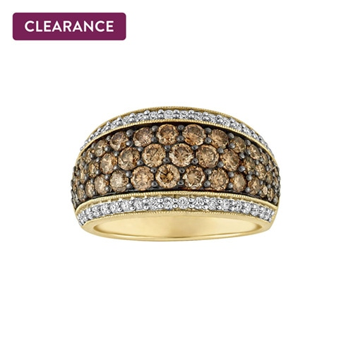 1adc13c61 Fred Meyer Jewelers – Kallati 2 1/6 ct. tw. White and cocoa diamond®  Fashion Ring in 14K Yellow Gold – $2,999.00