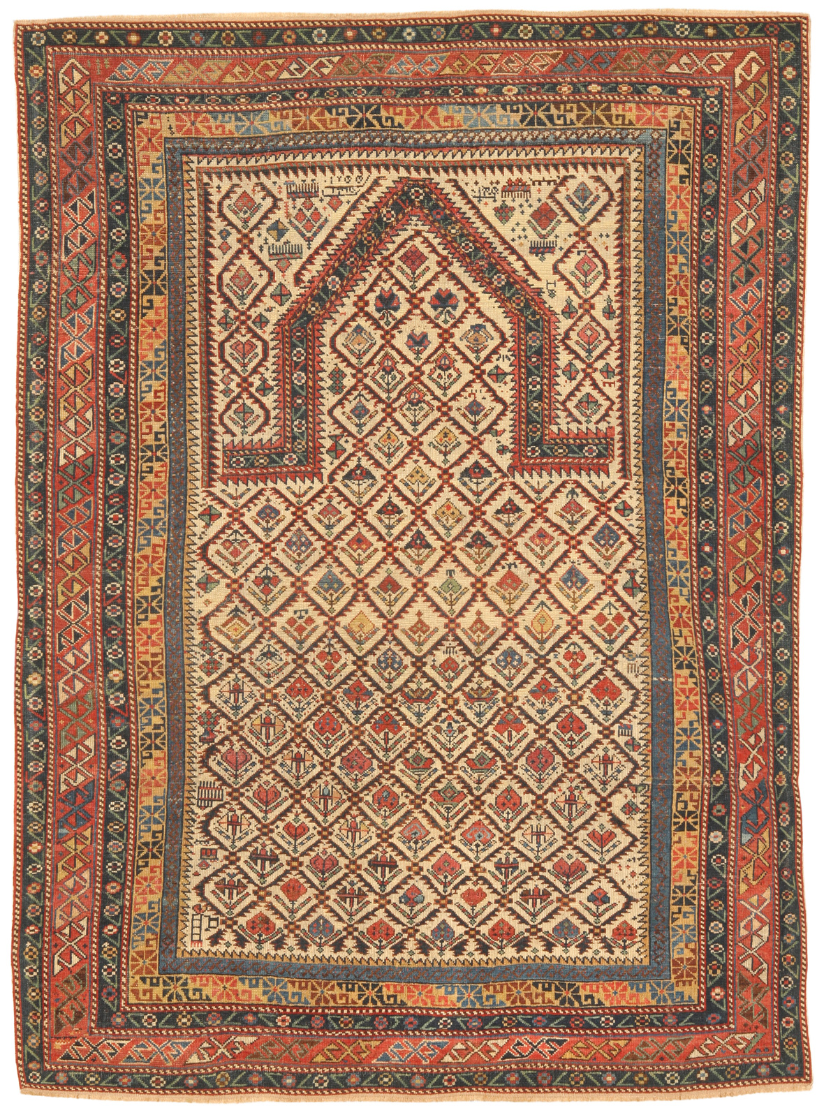 Antique Caucasian Shirvan Rug Antique Zili Sultan Rug Tekke Rug