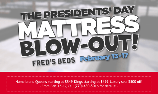 Fred's Beds Presidents' Day Mattress Sale Kicks Off!