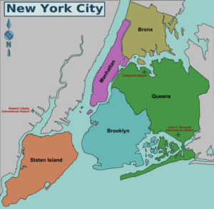 New York City Districts Map