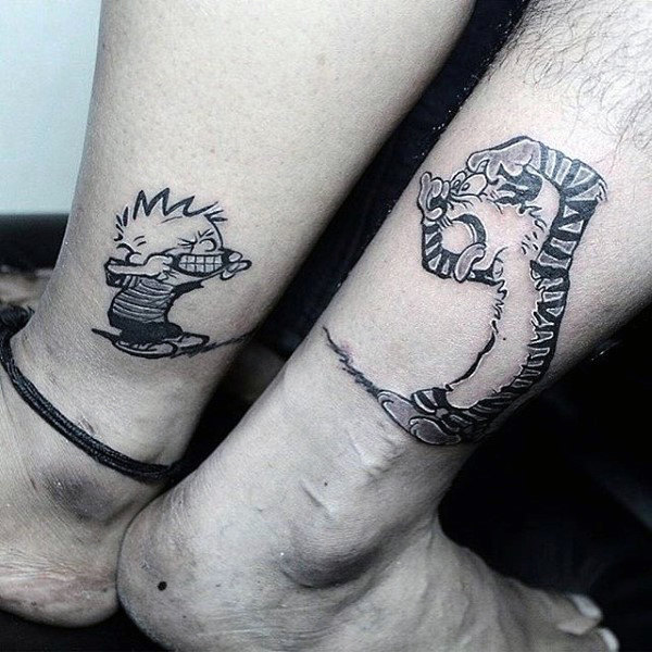 lower-leg-calvin-and-hobbes-comic-tattoo-designs-for-men