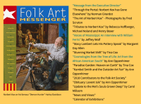 Tributes to Norbert Kox with photography by Fred Scruton in Folk Art Messenger Magazine