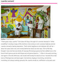 Juanita Leonard: Article by Fred Scruton in Raw Vision Magazine