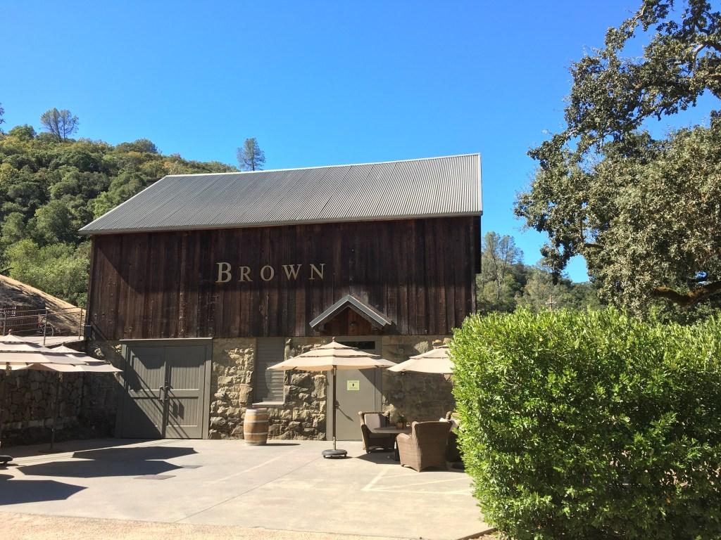 Visiting Brown Estate in Napa Valley