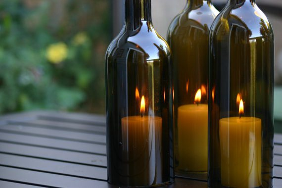 13 Ways to Re-Use Empty Wine Bottles
