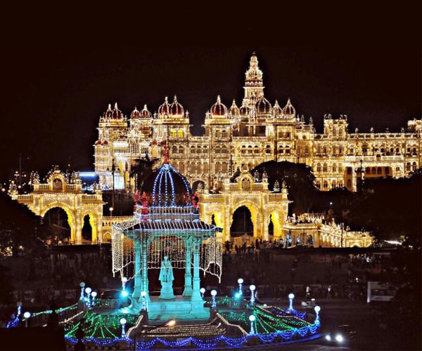 Mysore Palace During Dassehra