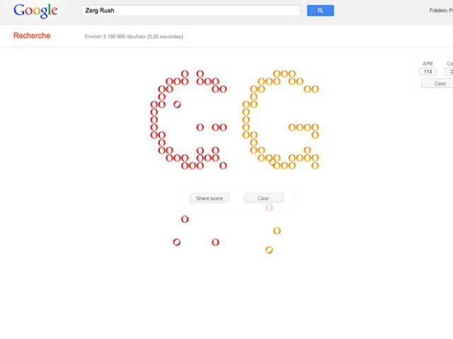 """Zerg Rush, un nouvel """"easter egg"""" pour Google"""