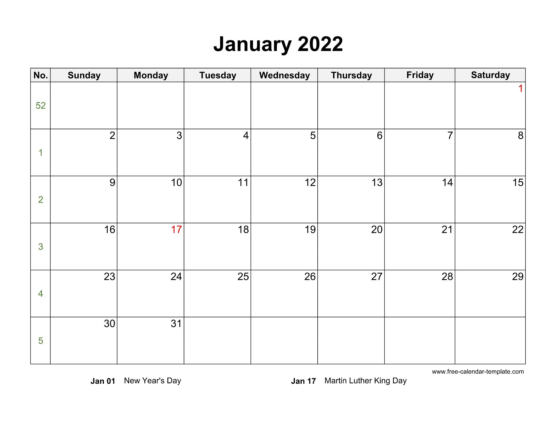 Download for free blank template february 2022 calendar in excel format, download schedule february 2022 calendar via google drive direct link. Free 2022 Calendar Blank Monthly Template (horizontal ...