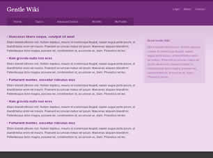 Gentle Wiki Free Website Template | Free CSS Templates ...