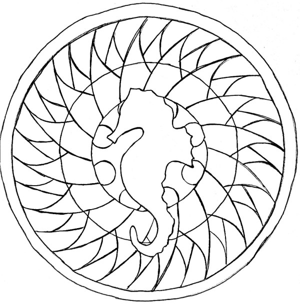 easy mandala coloring pages # 28