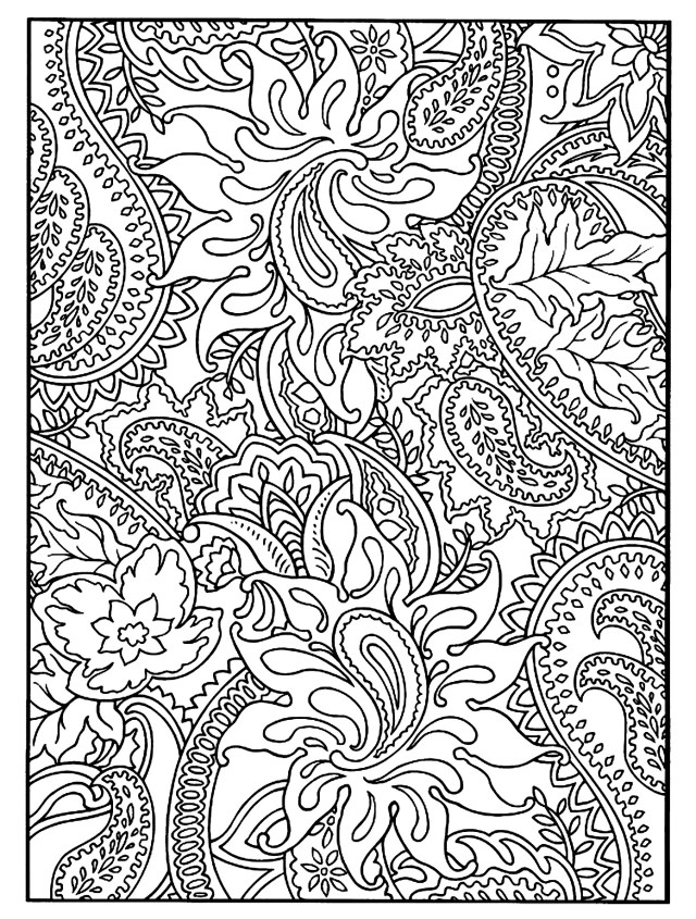 Flowers and vegetation full page - Flowers & Vegetation Coloring