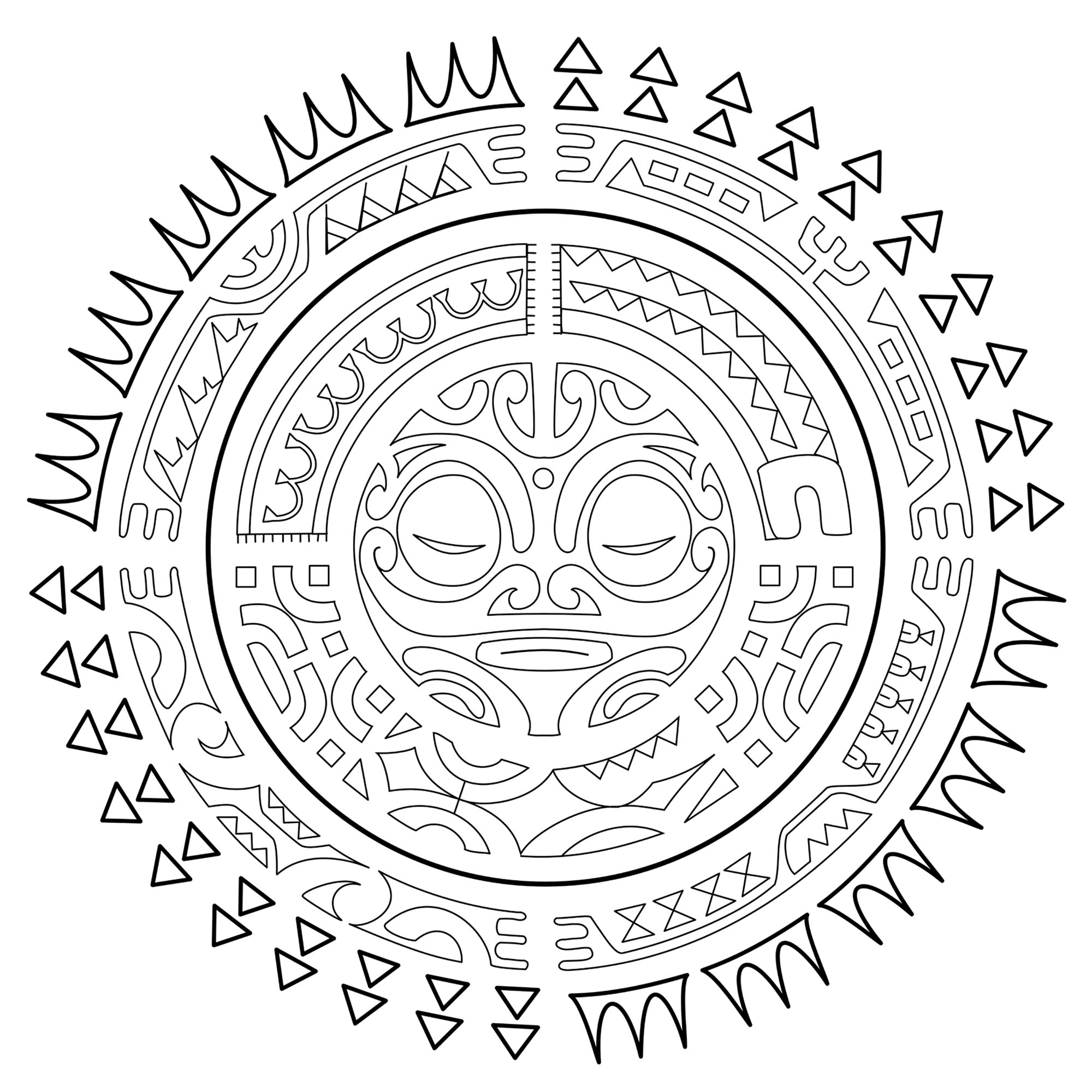 Polynesian Tattoos The Sun