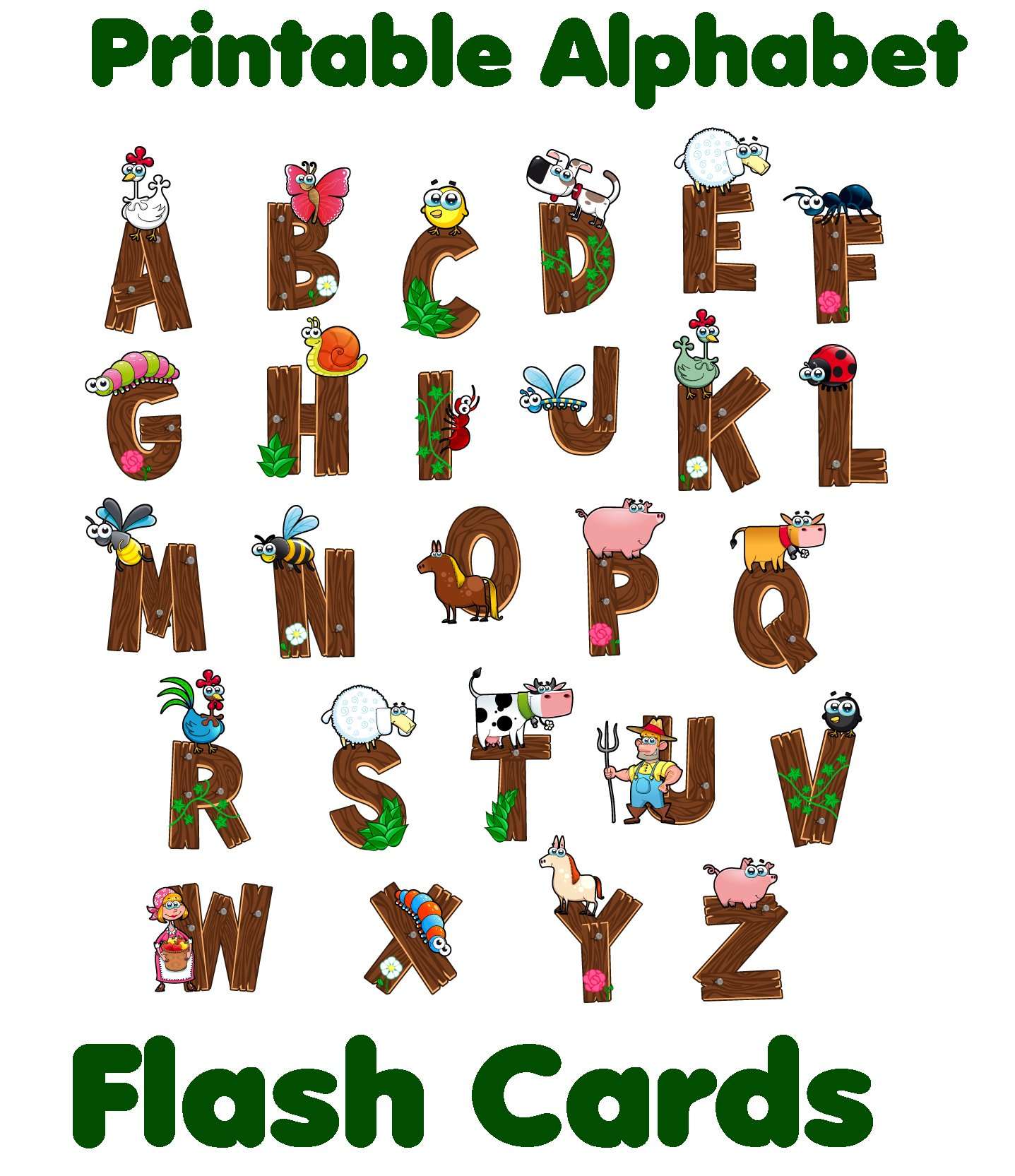 Alphabet Flash Cards Black And White
