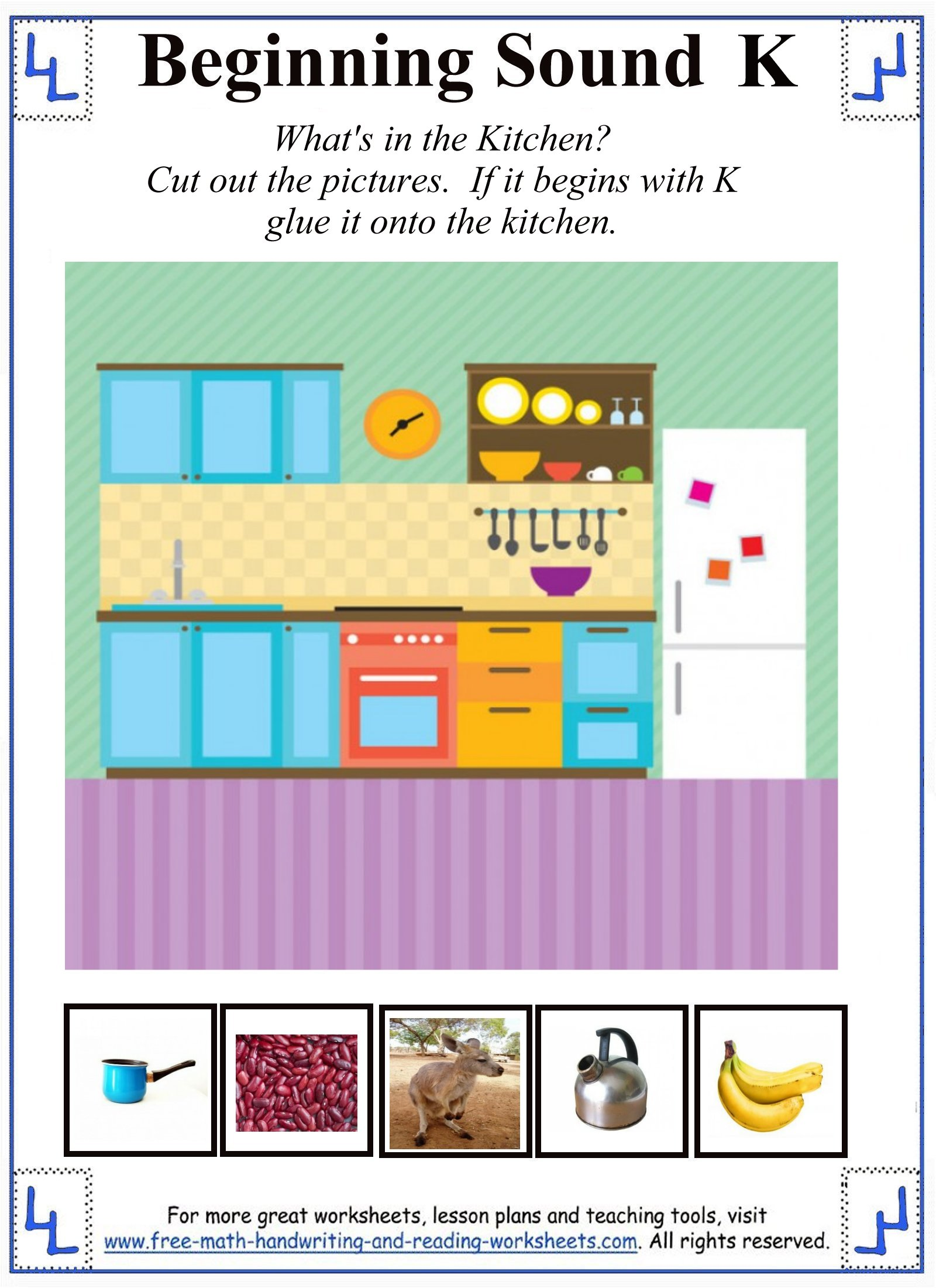Letter K Worksheets Amp Activities