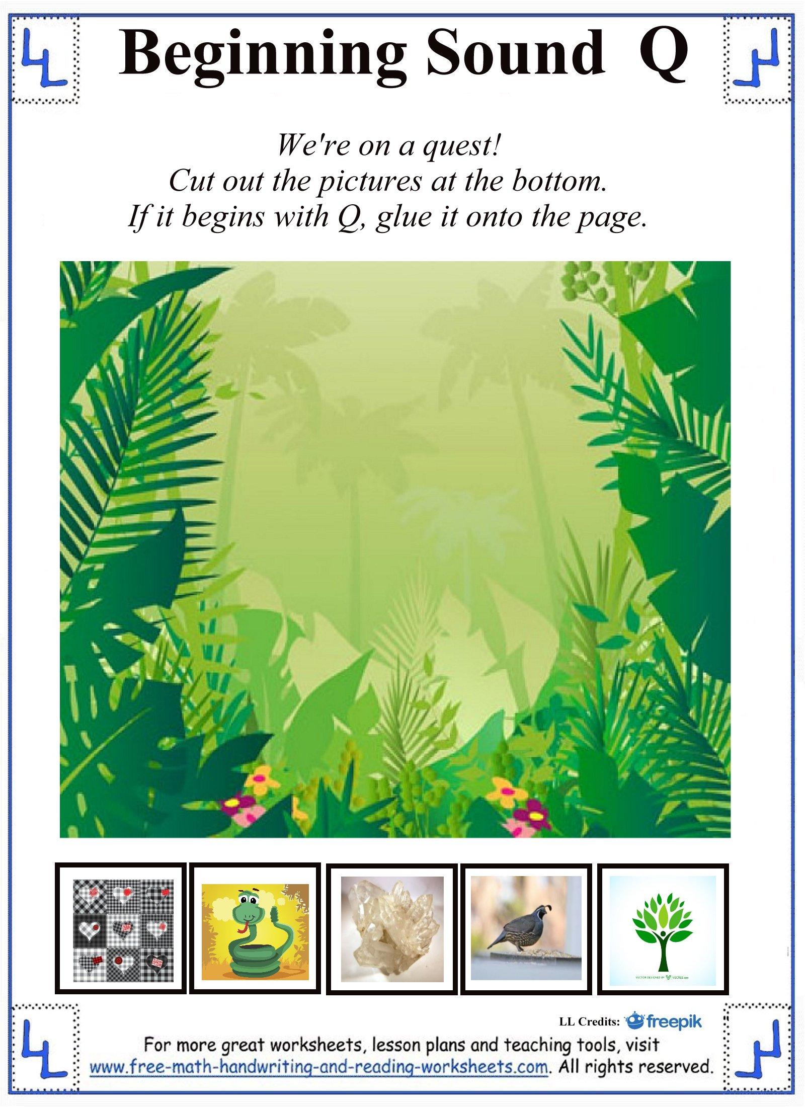 Preschool Letter Q Cut Paste Worksheet Preschool Best