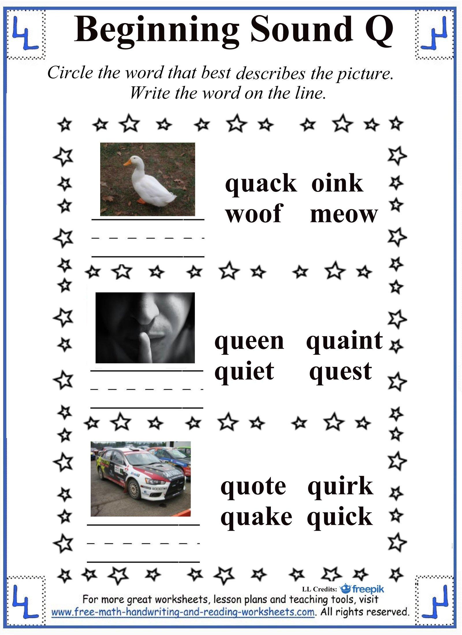 Letter Q Worksheets