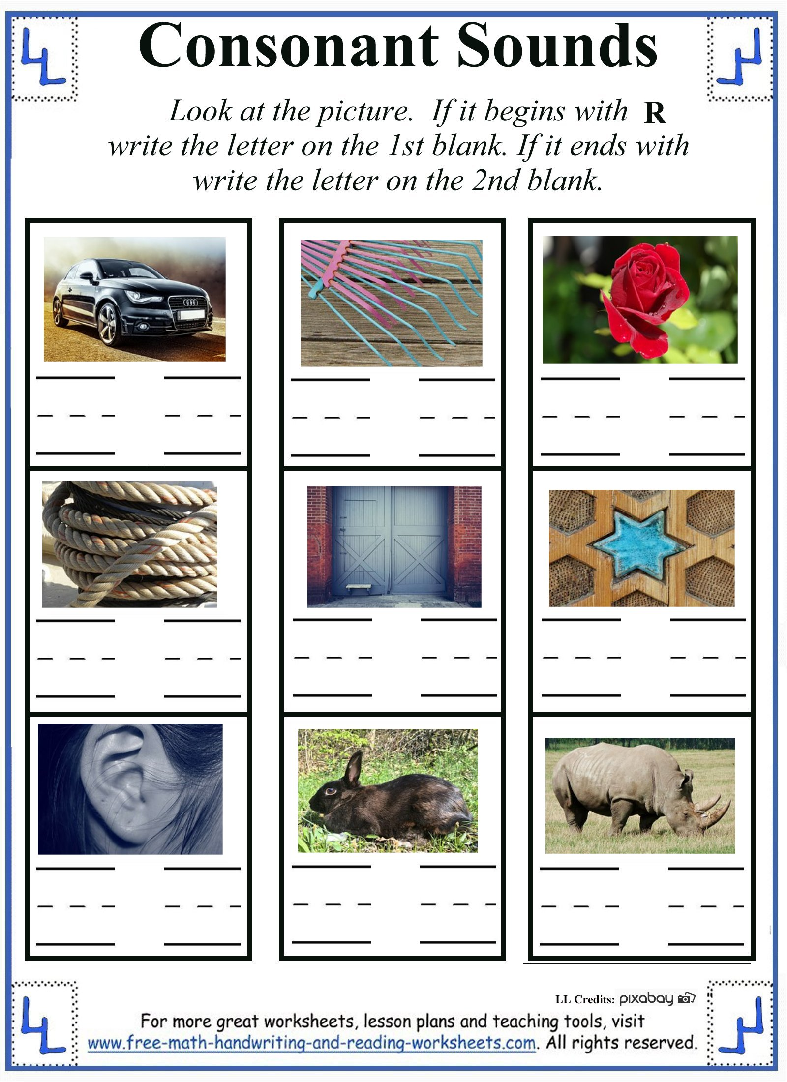 Letter Rr Worksheets