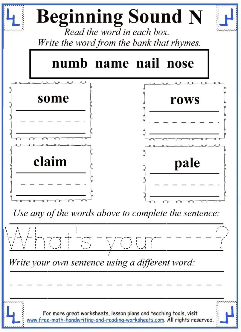 N For Net Learning The Letter N And The Nasal N Sound With Phonics