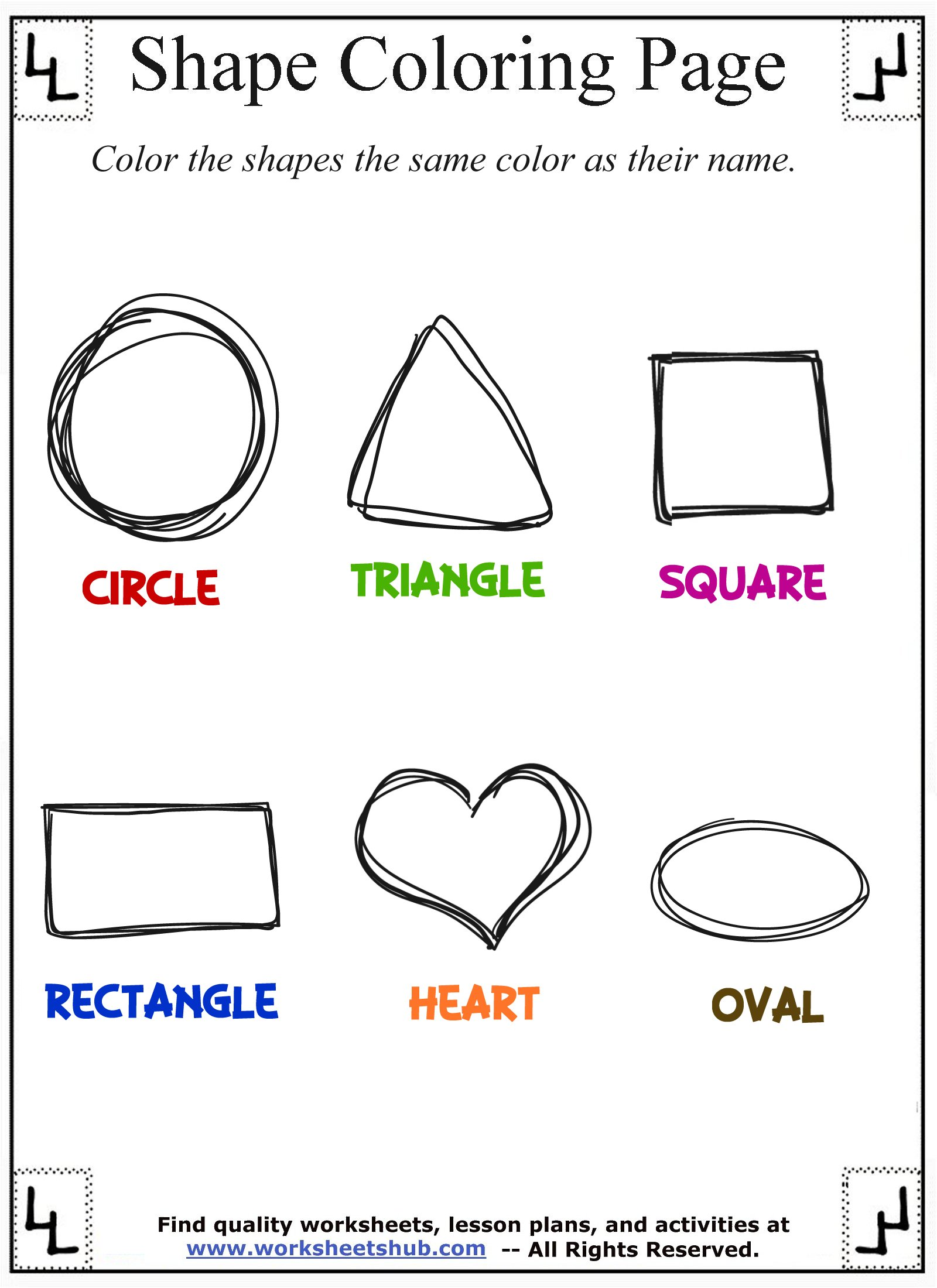 Shape Coloring Pages