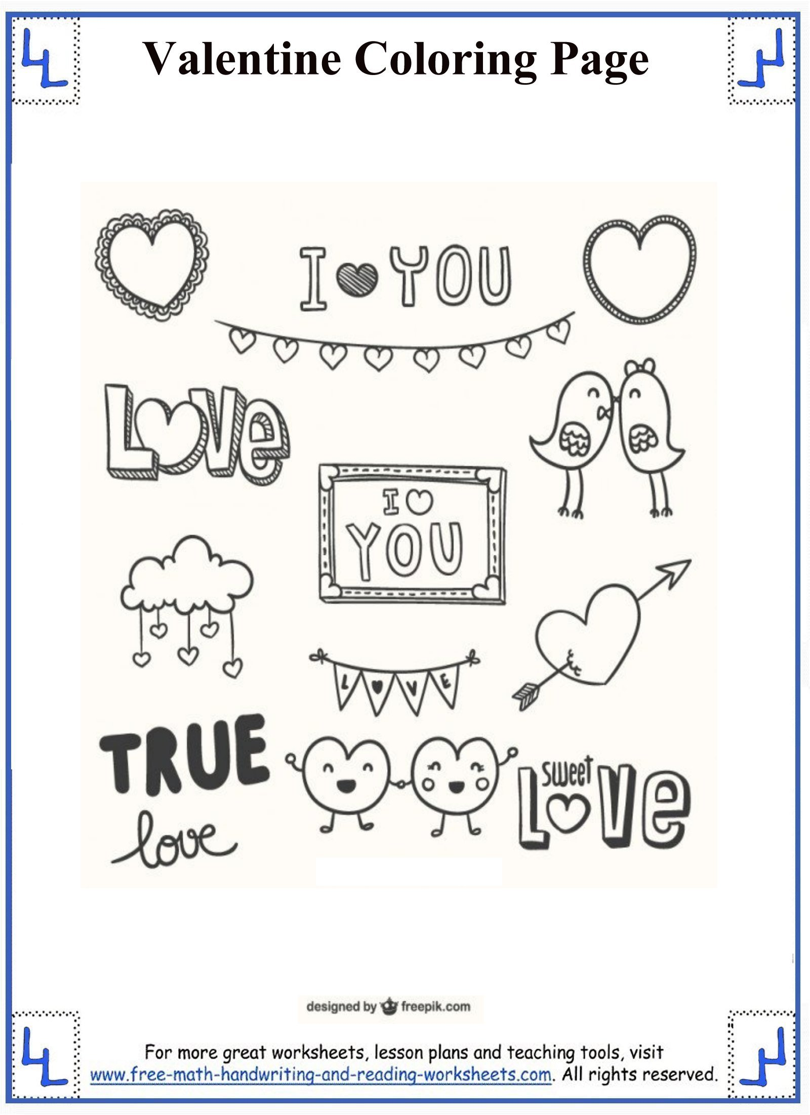 Valentine Vowels Worksheet