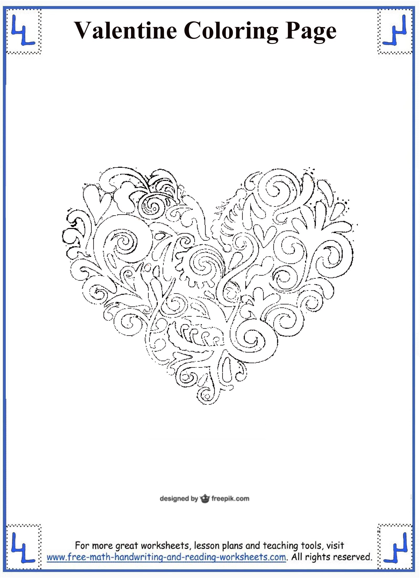 Valentine S Second Grade Math Worksheet
