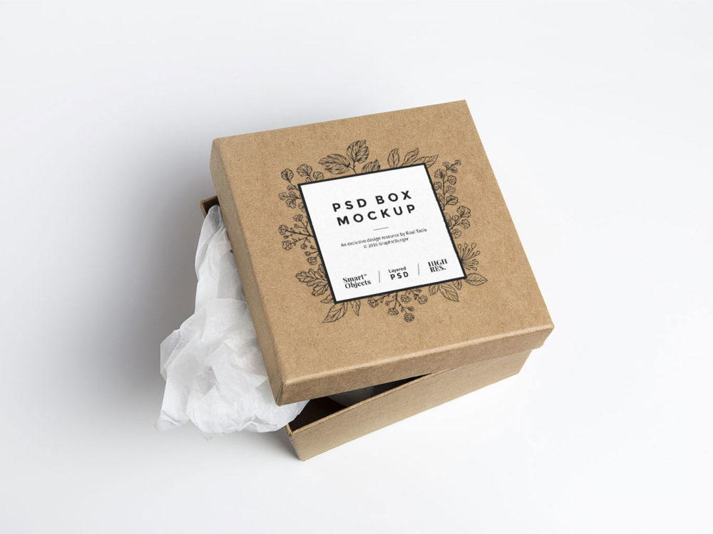 Download Free Cardboard Box PSD Mockup | Free Mockup