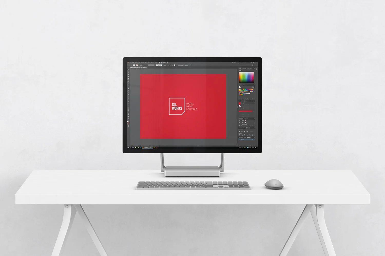 Free Microsoft Surface Studio Mockups Free Mockup