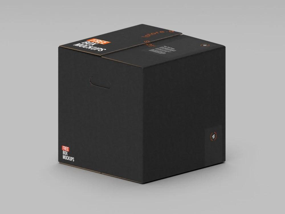 Download Cardboard-Box-Mockup-01 | Free Mockup