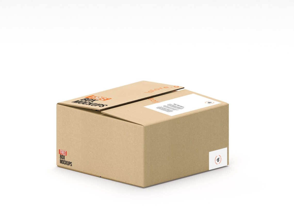 Download 7 PSD Cardboard Box Mockups | Free Mockup