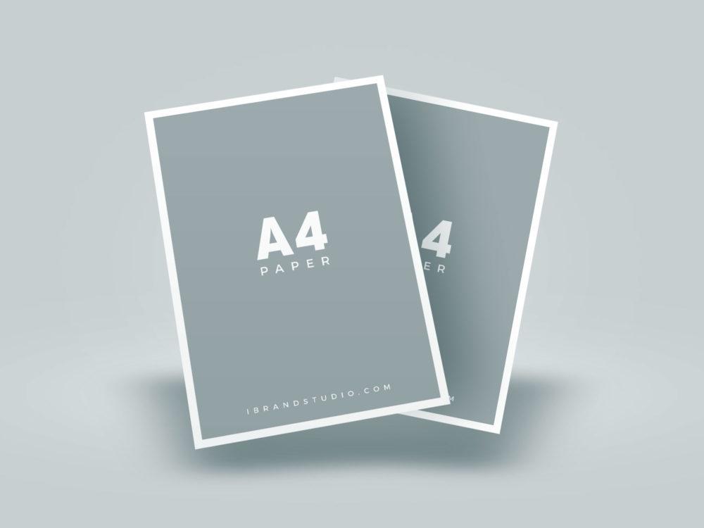 Download Free-Floating-A4-Paper-Mockup-03 | Free Mockup