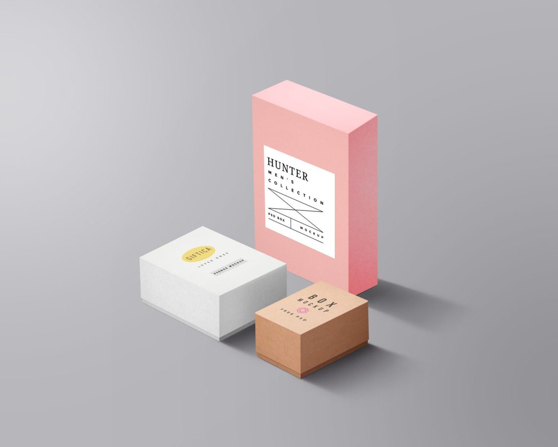 Download Packaging Boxes Mockup | Free Mockup