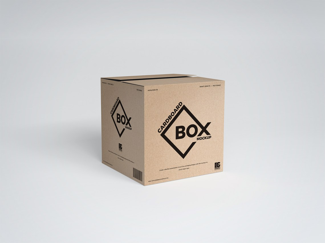 Download Free PSD Square Cardboard Box Mockup Design | Free Mockup