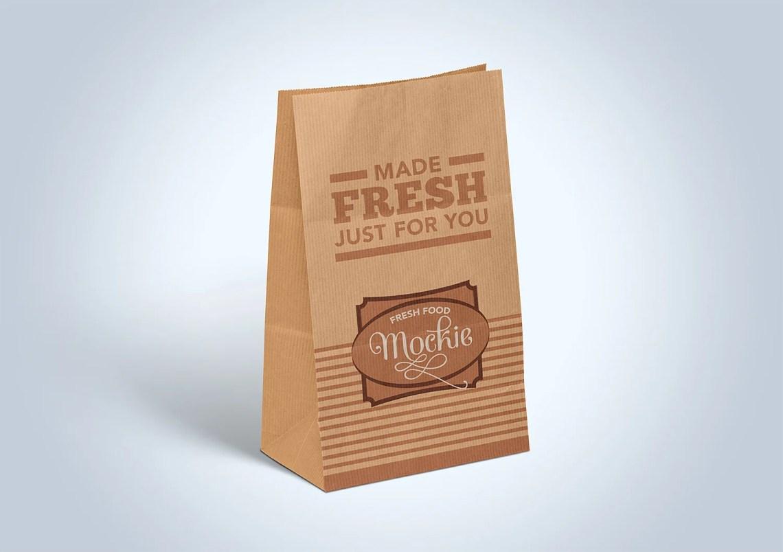 Download Kraft Paper Take Away Food Packaging Mockup | Free Mockup