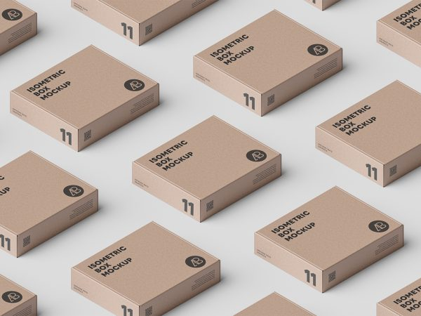 Download cardboard box mockup | Free Mockup