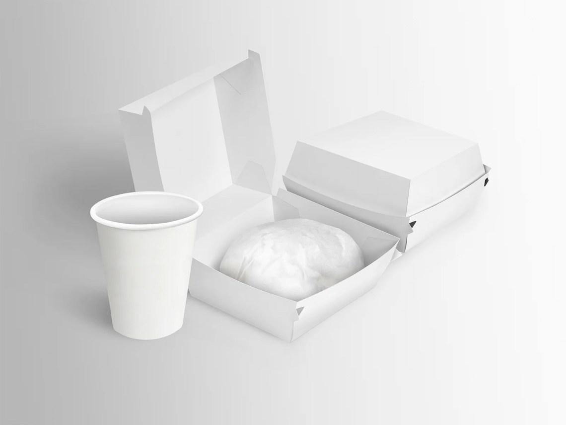 Download Free Burger Box Mockup | Free Mockup