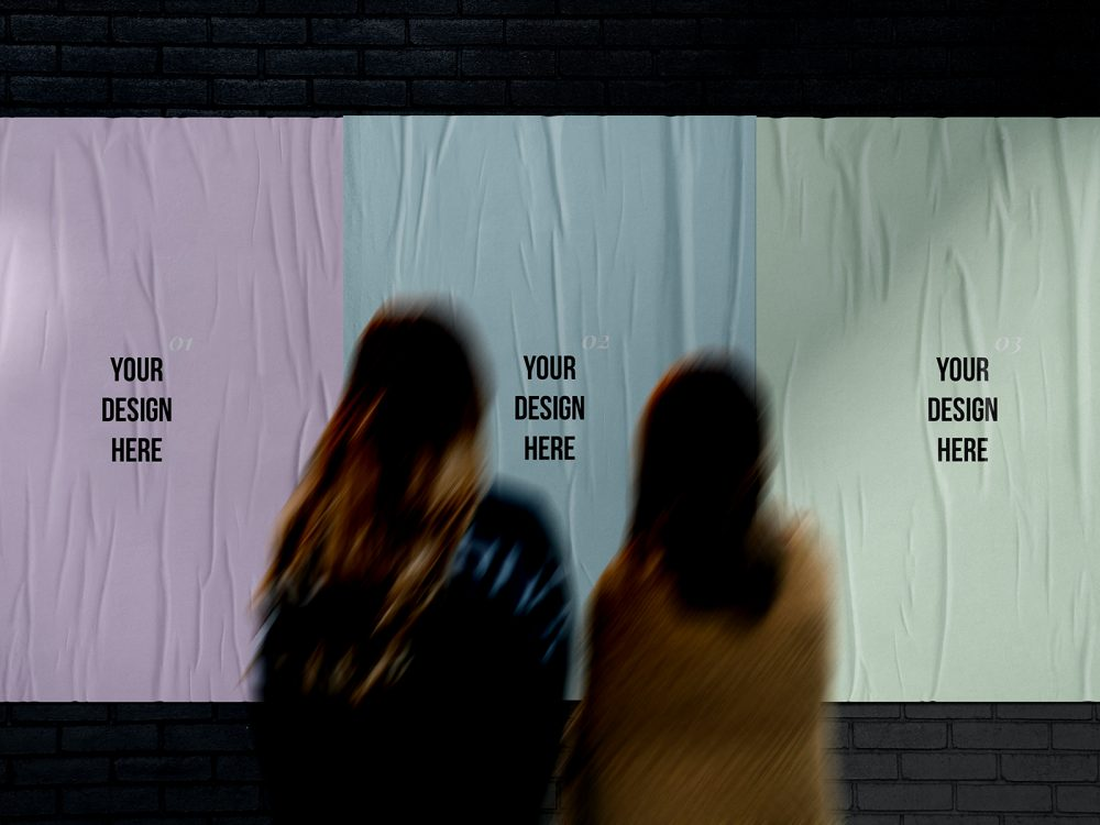 Go ahead, this poster by pixel buddha is your readymade canvas! Glued Street Posters Free Mockup Free Mockup
